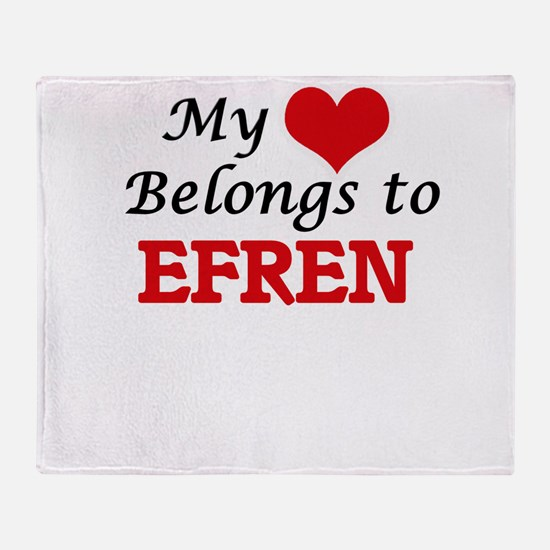 My heart belongs to Efren Throw Blanket