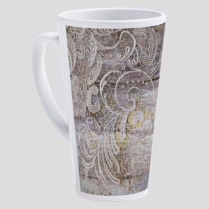 country barn wood lace 17 oz Latte Mug