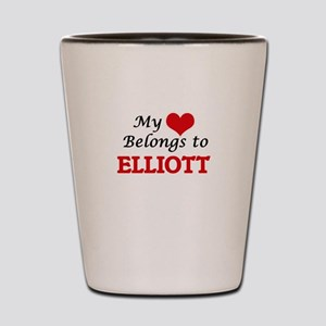My heart belongs to Elliott Shot Glass
