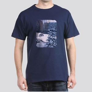 Horses in Winter Dark T-Shirt