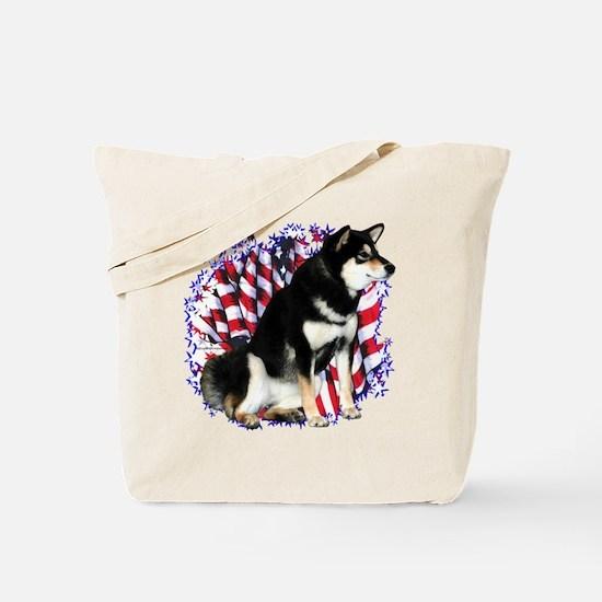 Shiba(blk) Patriot Tote Bag