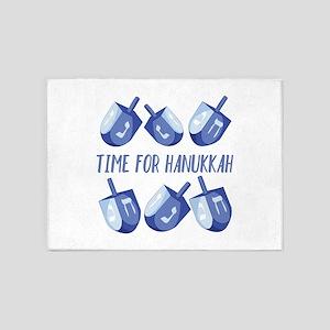 Time For Hanukkah 5'x7'Area Rug