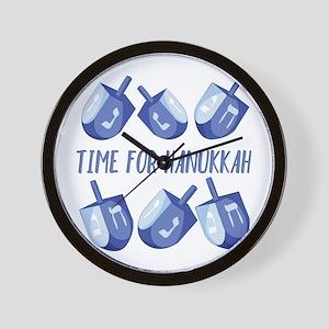Time For Hanukkah Wall Clock