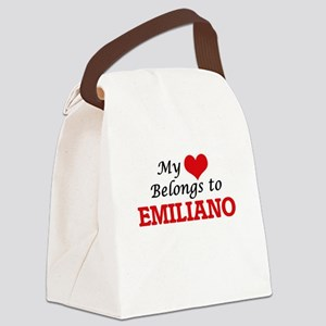 My heart belongs to Emiliano Canvas Lunch Bag