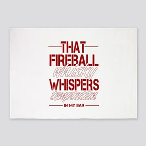 Fireball Whisky 5'x7'Area Rug