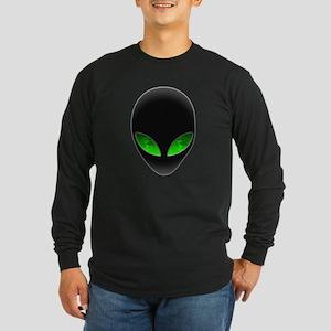 Cool Alien Earth Eye Reflection Long Sleeve T-Shir