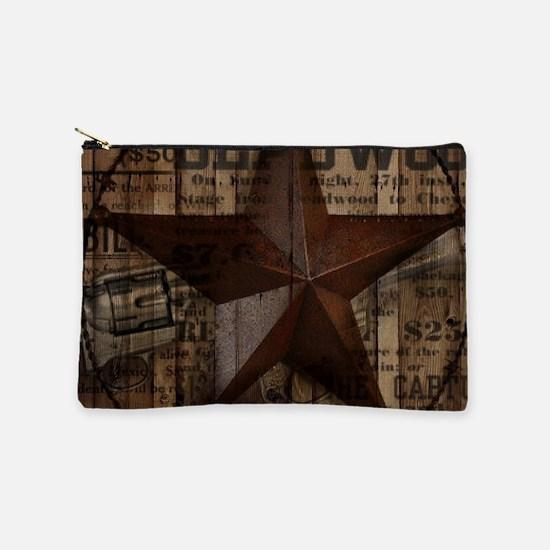 primitive texas lone star Makeup Bag