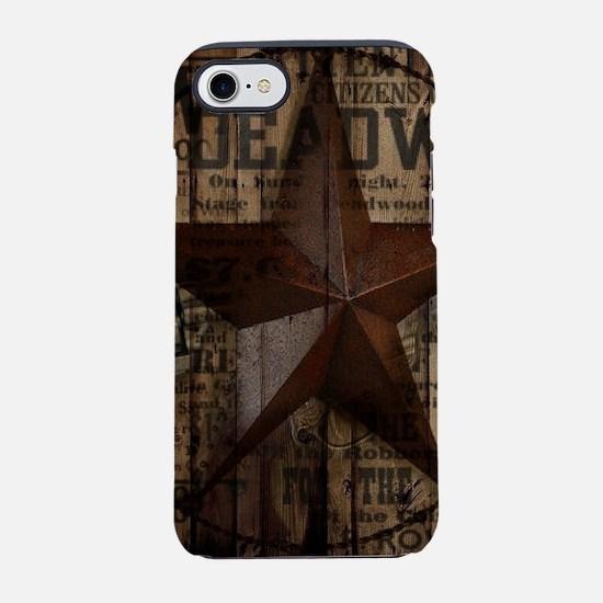 primitive texas lone star iPhone 8/7 Tough Case