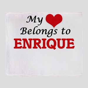 My heart belongs to Enrique Throw Blanket