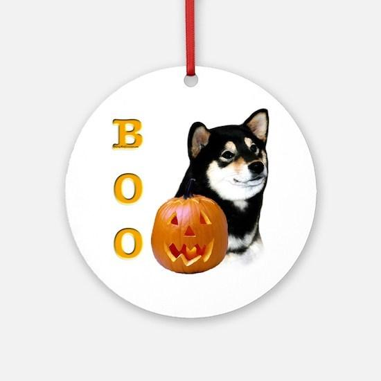 Shiba(blk) Boo Ornament (Round)