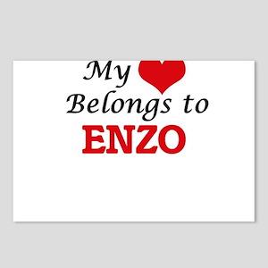 My heart belongs to Enzo Postcards (Package of 8)