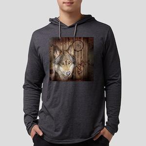 native dream catcher wolf Long Sleeve T-Shirt