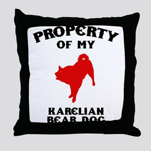 Karelian Bear Dog Throw Pillow