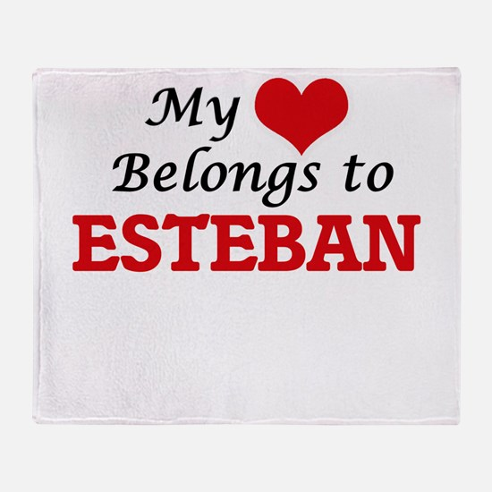 My heart belongs to Esteban Throw Blanket