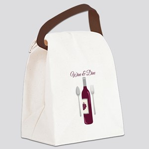 Wine & Dine Canvas Lunch Bag