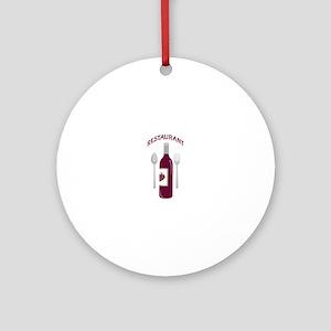 Restaurant Wine Round Ornament