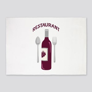 Restaurant Wine 5'x7'Area Rug