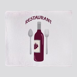 Restaurant Wine Throw Blanket