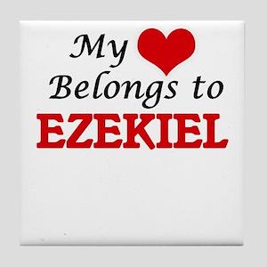 My heart belongs to Ezekiel Tile Coaster