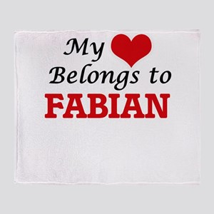 My heart belongs to Fabian Throw Blanket