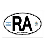 Argentina Euro Oval Postcards (Package of 8)