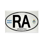 Argentina Euro Oval Rectangle Magnet