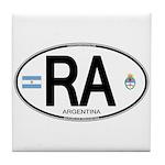 Argentina Euro Oval Tile Coaster