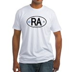 Argentina Euro Oval Fitted T-Shirt