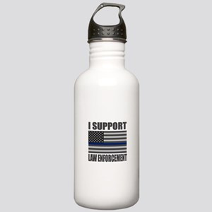 I support law enforcement Water Bottle