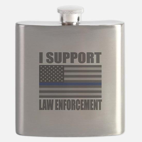 I support law enforcement Flask