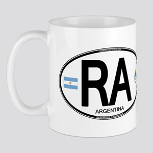 Argentina Euro Oval Mug