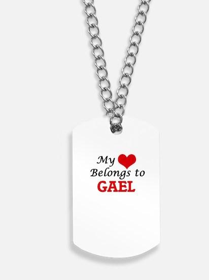 My heart belongs to Gael Dog Tags