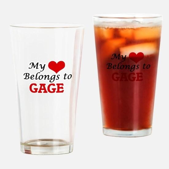 My heart belongs to Gage Drinking Glass