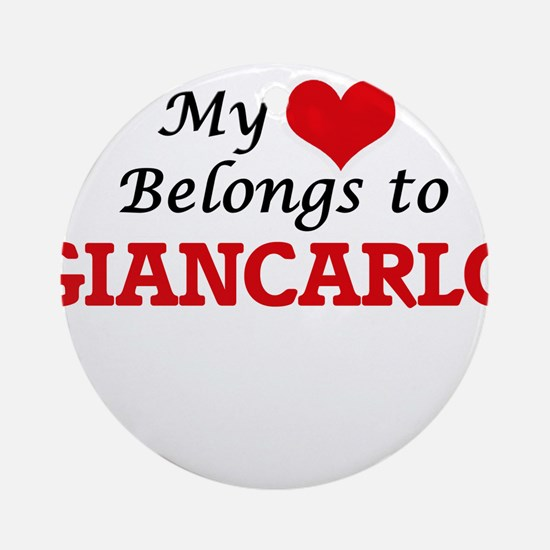 My heart belongs to Giancarlo Round Ornament