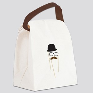 Mustache Glasses Hat Canvas Lunch Bag