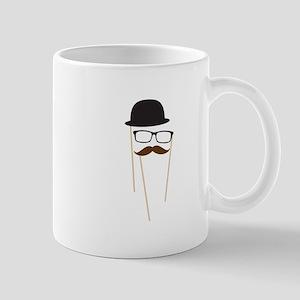 Mustache Glasses Hat Mugs