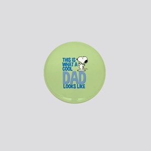 Snoopy - This Is What A Cool Dad Looks Mini Button