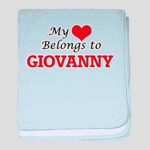 My heart belongs to Giovanny baby blanket