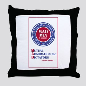 Trump Putin Mad Men Society Throw Pillow