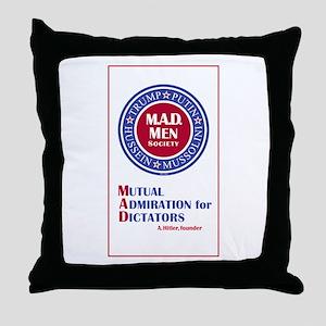 Trump Putin Mad Men Society Throw Pillow
