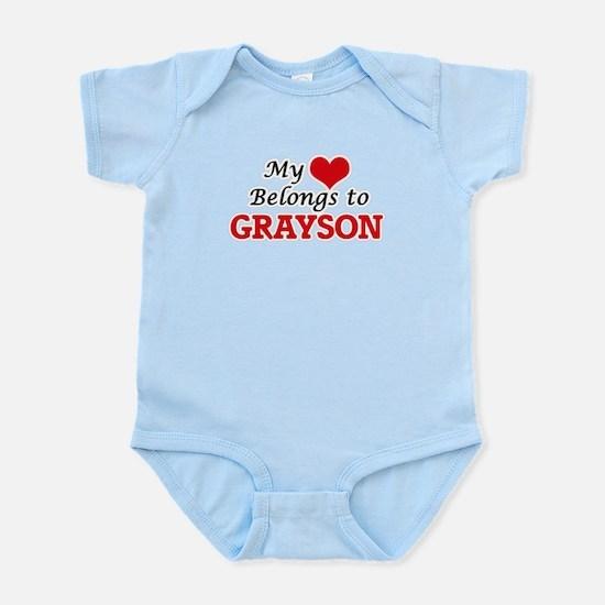 My heart belongs to Grayson Body Suit