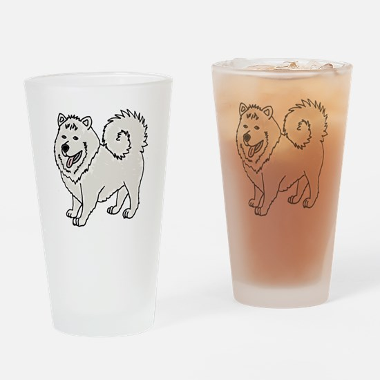 Unique Husky cartoon Drinking Glass
