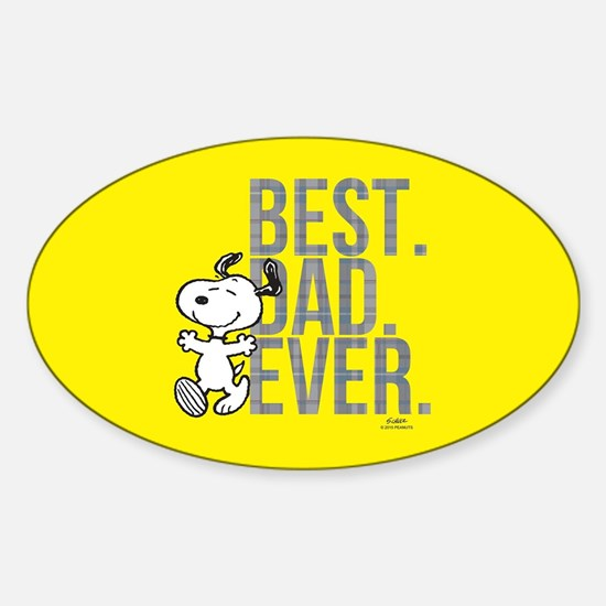 Snoopy - Best Dad Ever Full Bleed Decal
