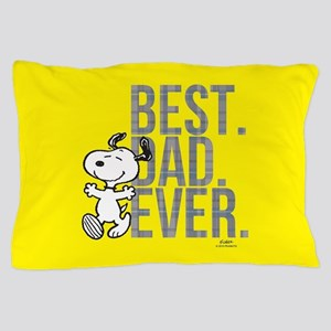 Snoopy - Best Dad Ever Full Bleed Pillow Case