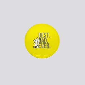 Snoopy - Best Dad Ever Full Bleed Mini Button