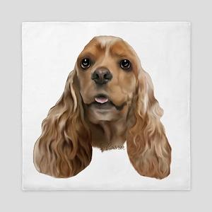 Cocker Spaniel Dog Portait Queen Duvet