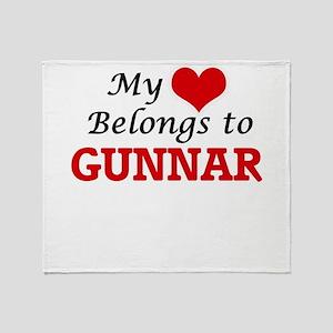 My heart belongs to Gunnar Throw Blanket