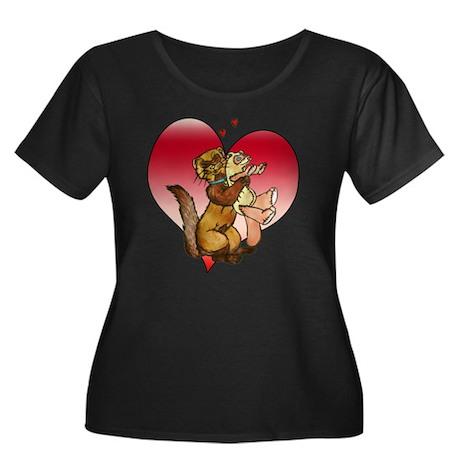 teddy love nero1 Plus Size T-Shirt