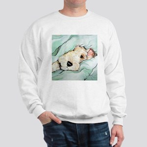 Napping Wire Fox Terrier Sweatshirt