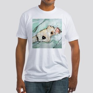 Napping Wire Fox Terrier Fitted T-Shirt